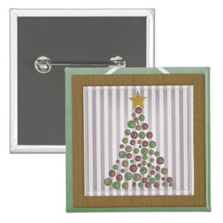 County Christmas Button Tree Frame Greeting