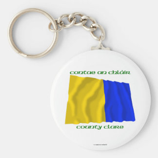 County Clare Colours Basic Round Button Keychain