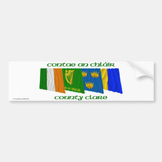 County Clare Flags Bumper Sticker
