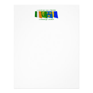 County Clare Flags Letterhead Template