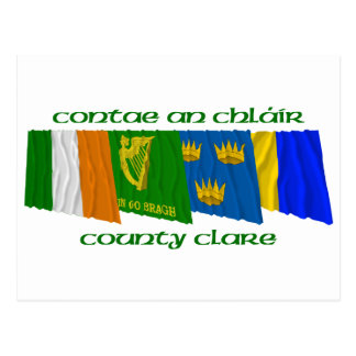 County Clare Flags Postcard