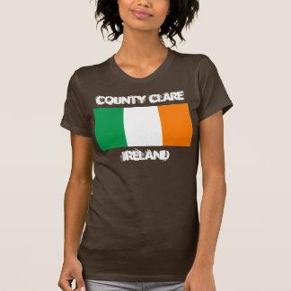 County Clare, Ireland with Irish flag T-shirts