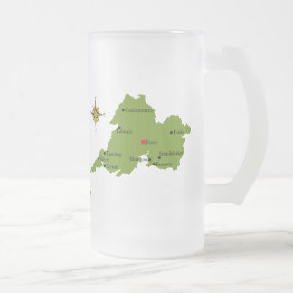 County Clare Map Crest Mugs