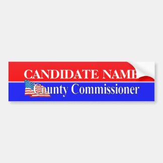 County Commission Template Bumper Sticker