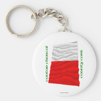 County Cork Colours Basic Round Button Keychain