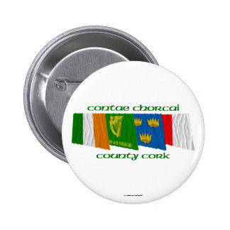 County Cork Flags Buttons