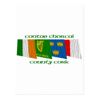 County Cork Flags Postcard