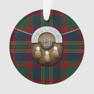 County Cork Irish Tartan And Sporran Ornament
