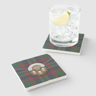 County Cork Irish Tartan And Sporran Stone Coaster