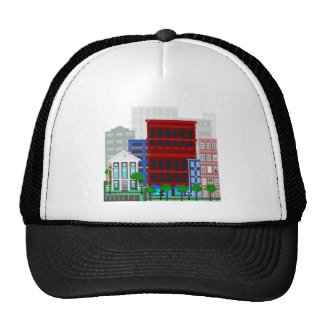 County courthouse in the city trucker hat