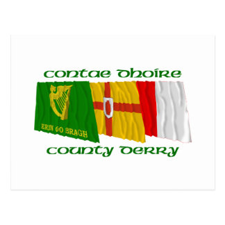 County Derry Flags Postcard