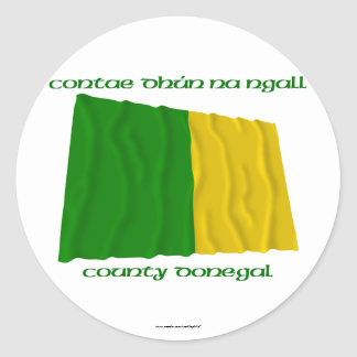 County Donegal Colours Classic Round Sticker