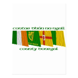 County Donegal Flags Postcard