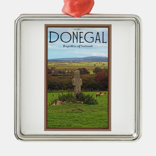 County Donegal - Stone Cross Metal Ornament
