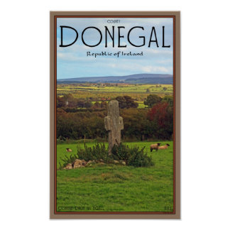 County Donegal - Stone Cross Poster
