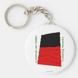 County Down Colours Basic Round Button Keychain