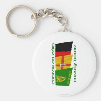 County Down Flags Basic Round Button Keychain