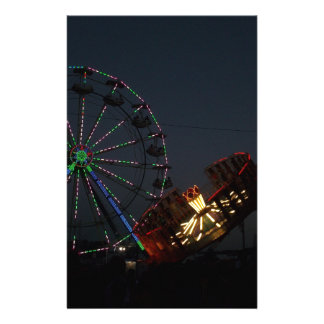 County Fair at Night Personalized Stationery