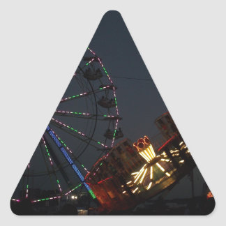 County Fair at Night Triangle Sticker