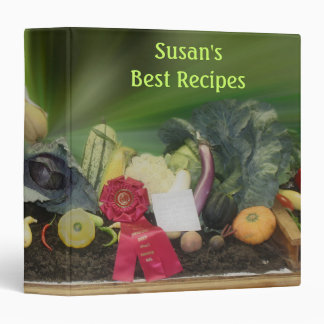 County Fair Vegetable Display Recipe 3 Ring Binder