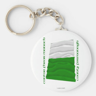 County Fermanagh Colours Basic Round Button Keychain
