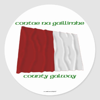 County Galway Colours Round Stickers
