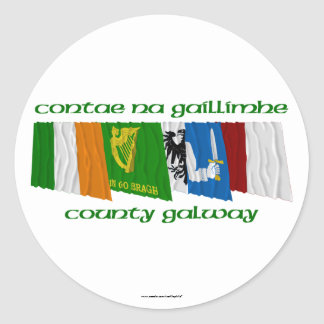 County Galway Flags Stickers