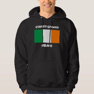 County Galway, Ireland with Irish flag Hoodie