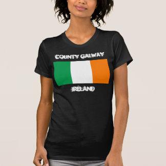 County Galway, Ireland with Irish flag T-Shirt