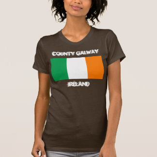 County Galway, Ireland with Irish flag Tshirts