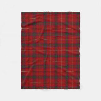 County Galway Irish Tartan Fleece Blanket