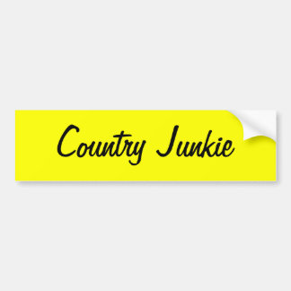 County Junkie sticker for those who love country Car Bumper Sticker
