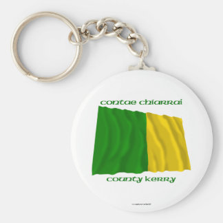County Kerry Colours Basic Round Button Keychain