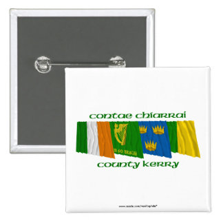 County Kerry Flags Buttons