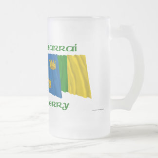 County Kerry Flags Frosted Glass Beer Mug