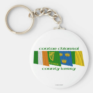 County Kerry Flags Basic Round Button Keychain