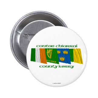 County Kerry Flags Pinback Button
