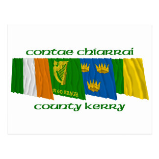 County Kerry Flags Postcard