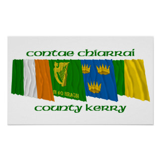 County Kerry Flags Poster