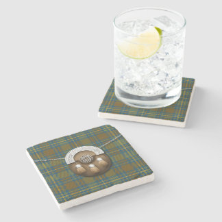 County Kerry Irish Tartan And Sporran Stone Coaster