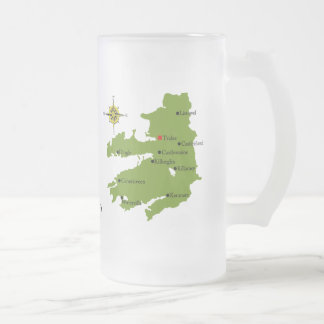 County Kerry Map & Crest Mugs
