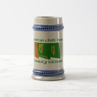 County Kildare Flags 18 Oz Beer Stein