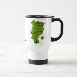 County Kildare Map & Crest Mugs