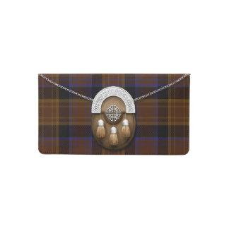 County Laois Irish Tartan And Sporran Checkbook Cover