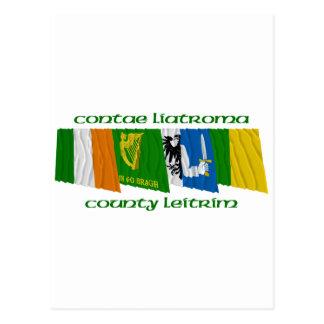 County Leitrim Flags Postcard