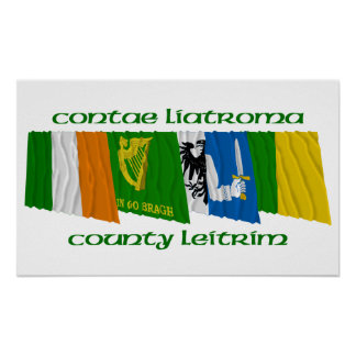 County Leitrim Flags Poster