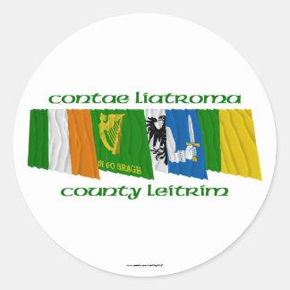 County Leitrim Flags Sticker