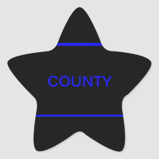 county level LEO sticker with thin blue line