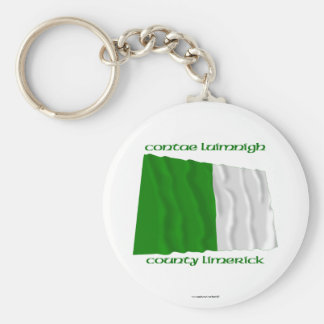 County Limerick Colours Basic Round Button Keychain