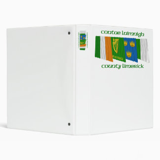 County Limerick Flags 3 Ring Binder